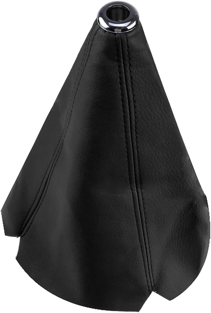 JJYZD ユニバーサルPUレザー/フランネル変速首輪カーハイパーファブリック変速ノブレバースティック首輪ゲーターブーツカバー (色 : PU Leather Black)