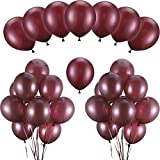 Hestya Burgundy Balloons 100 Pack 12 Inch Latex Party Balloons Burgundy Wine Red Balloons Solid Metallic Balloons Great for Weddings, Birthday Party, Bridal Shower, Party Decoration