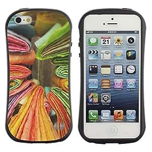 Suave TPU GEL Carcasa Funda Silicona Blando Estuche Caso de protección (para) Apple Iphone 5 / 5S / CECELL Phone case / / Books Yellow Green Colorful /