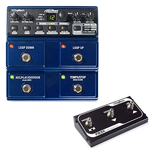 DigiTech JamMan Stereo Phrase Sampler Looper Pedal with 35 Minutes of Internal Recording Capacity, SDHC Card Expansion and Included JamManager Loop Librarian Software with Three Function Foot Switch