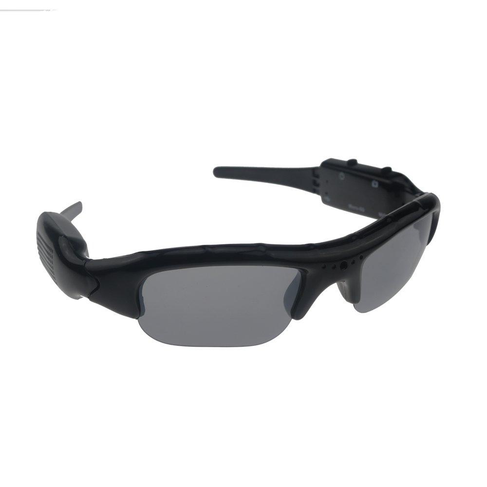 Ecloud Shop Spy Gafas de Sol DV Oculta Camara de Video Espia Negro 4032 * 3024
