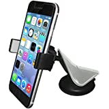 Mental Beats Car Mount Dashboard and Windshield Phone Holder Car Accessories Universal for all Smartphones (Black / Silver )