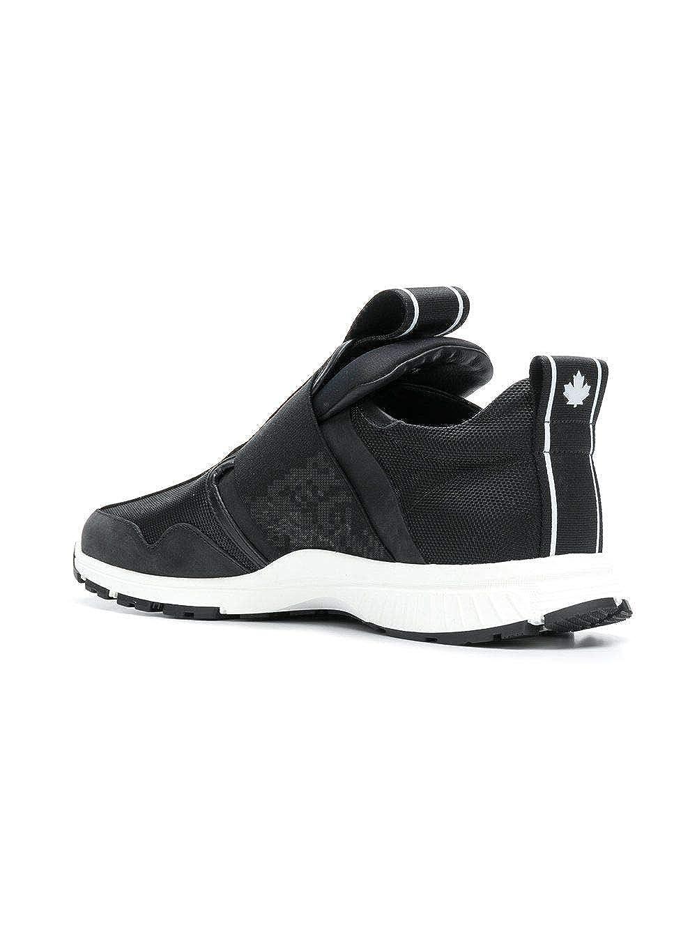 Dsquared2 Hombre Snm0027065002782124 Negro Tela Zapatillas Slip-On: Amazon.es: Zapatos y complementos