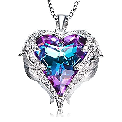 ANCREU Angel Wing Love Heart Necklaces for Women Gifts for Best Gifts for Girls