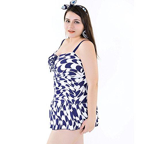 SHISHANG Traje de baño de bikini de tamaño grande traje de baño de mujer correa de hombro ajustable traje de baño de resorte caliente Europa y los Estados Unidos de secado rápido de alta elasticidad m Navy