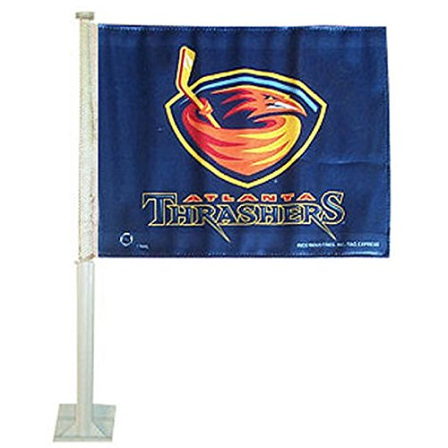 NHL Atlanta Thrashers Car Flag Atlanta Thrashers Hockey Team