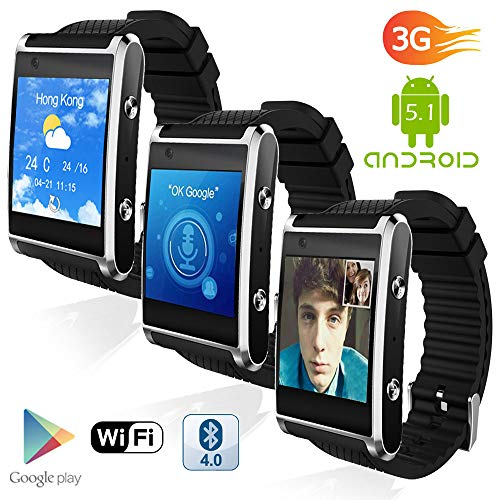 Indigi Swatch-D6-08 3G GSM Unlocked Smart Watch & Phone Android 5.1 OS Wi-Fi + GPS(Maps) + Google Play + Pedometer