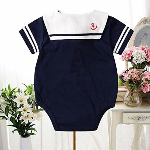 Zooarts- pagliaccetto stile marinaro Cotone per bambine e bambini 18-24 Mesi unisex Blue, per 0/- 24/mesi abbigliamento estivo per neonati