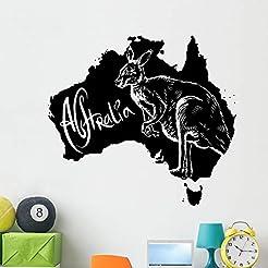 Wallmonkeys Kangaroo as Australian Symbo...