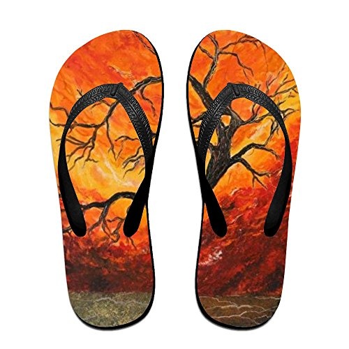 Slippers Flip Women Kids PTJHKET Black Oil Flops Painting for Men wIPqvd