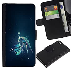 Leather Case Wallet Flip Card Pouch Soft Holder for Apple Iphone 4 / 4S / CECELL Phone case / / Abstract Galaxy /