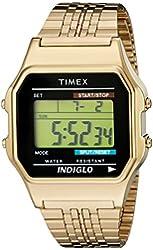 Timex Unisex TW2P48200AB Originals Gold-Tone Digital Watch