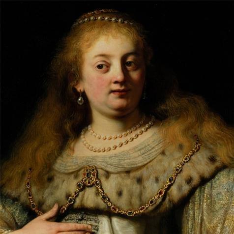 ポリエステルキャンバス、最高の価格アート装飾プリントキャンバスの油絵` Rembrandt van Rijn、Artemisia受信Mausolus `灰、1634`、10x 10インチ/ 25x 25cm is bestガレージの装飾、ホームギャラリーアートとギフトの商品画像