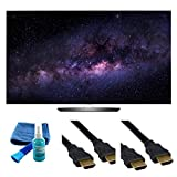 Electronics OLED55B6P FLAT 55-INCH 4K ULTRA HD SMART OLED TV (2016 MODEL) - 4 PIECE SET UP BUNDLE