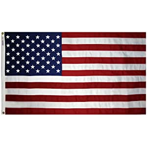Annin Flagmakers Model 2710 American Flag 3×5 ft. Tough-Tex the Strongest, Longest Lasting Flag , 100% Made in USA with Sewn Stripes, Embroidered Stars and Brass Grommets.