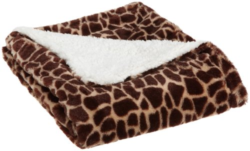 Northpoint Wild Side Faux Fur Sherpa Throw - Unique combination of animal skin printed faux fur and microsherpa 100-Percent polyester Choose from 9 high fashion animal skin prints - blankets-throws, bedroom-sheets-comforters, bedroom - 51v9YXbdMgL -