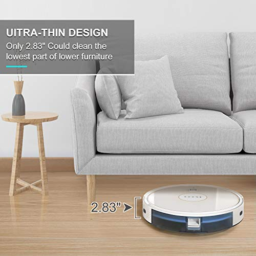 GOOVI Robot Vacuum, 1600PA Robotic Vacuum Cleaner with Wi-Fi, Super-Thin, Self-Charging Robot Vacuum Cleaner, Best for… 5