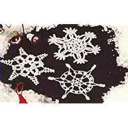 Vintage Crochet PATTERN to make - Snowflakes Christmas Decoration Xmas Victorian Ornaments. NOT a finished item. This is a pattern and/or instructions to make the item only.
