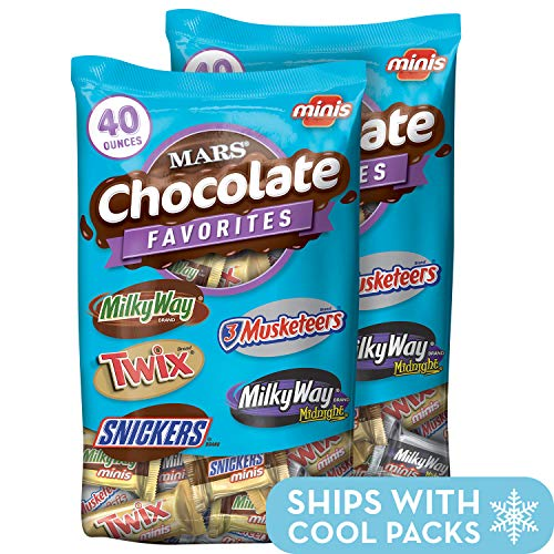 MARS Chocolate Minis Size Candy Variety Mix 40-Ounce Bag (Pack of 2) ()