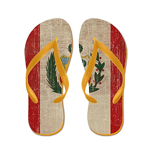 CafePress Vintage Peru - Flip Flops, Funny Thong Sandals, Beach Sandals Orange