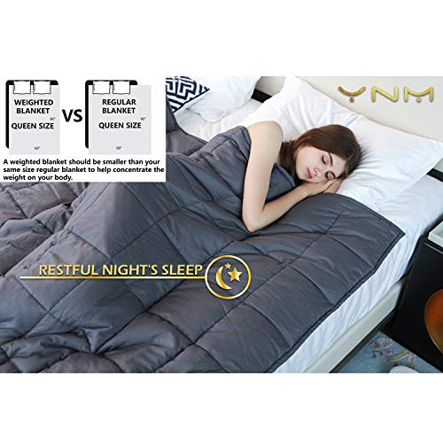 YnM Weighted Blanket 15 lbs for Bed Blankets