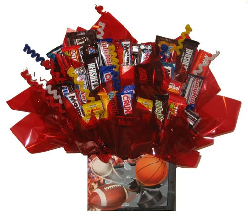 Chocolate Candy Bouquet gift box - Great as gift for Halloween, Thanksgiving, Christmas, Birthday, Thank You, Get Well Soon, Congratulations gift or for any occasion (Sports Gift Box) by So Sweet of You