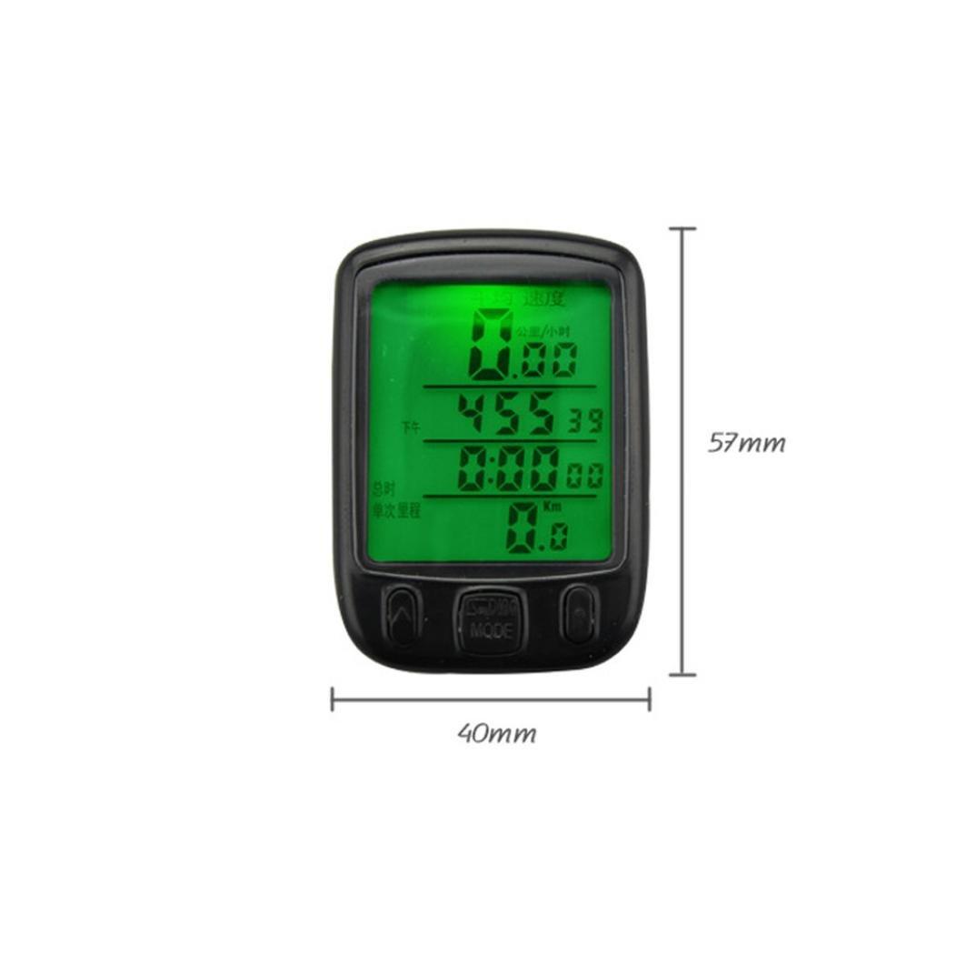 Od/ómetro digital LCD del veloc/ímetro Sannysis cuentakil/ómetros bicicleta Impermeable negro Veloc/ímetro Retroiluminaci/ón Ciclismo