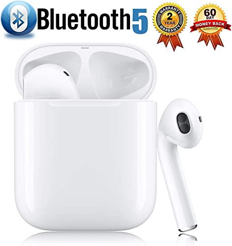 Bluetooth 5.0 Wireless Earbuds 3D Stereo Bluetooth Headphones IPX5 Waterproof Pop-ups Auto Pairing Fast Charging in-Ear Headsets,for Airpods Pro Apple Android Sports Bluetooth Earbuds