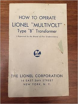 How to Operate Lionel Multivolt Type B Transformer The Lionel