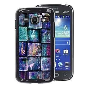 A-type Arte & diseño plástico duro Fundas Cover Cubre Hard Case Cover para Samsung Galaxy Ace 3 (Pastel Teal Pink Pattern)