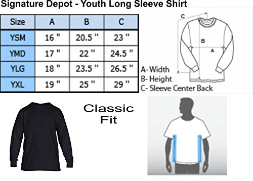 Signature Depot Kids Long Sleeve T Shirt Greatest Lyft Driver Ever Youth Tee