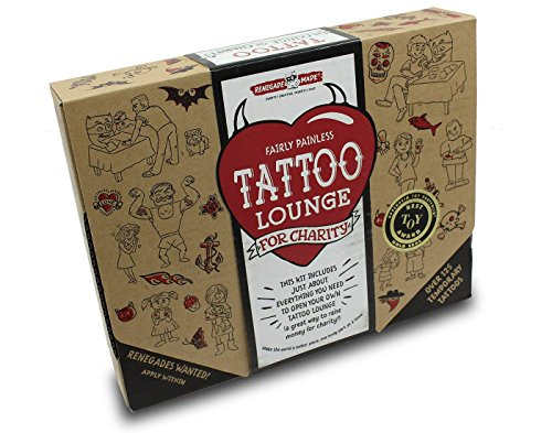 Crafts Tattoos - Renegade Made | Tattoo Lounge KIT | Promote Kindness and Raise Money for Your Favorite Cause by Applying Fun, Non-Toxic Temporary Tattoos for Kids. The Ultimate DIY Craft for Promoting Kindness!