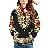 GREFER Clearance Lovers Autumn Winter Tops African 3D Print Long Sleeve Hoodies Sweatshirt