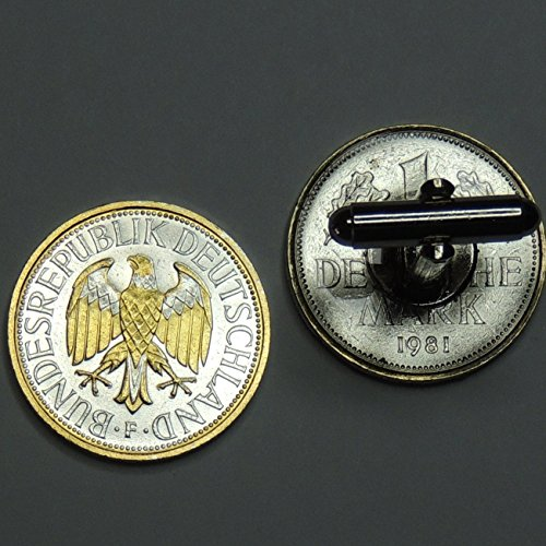 German 1 Mark Eagle - 2 Toned (Uniquely Hand Done) Gold & Silver coin cufflinks for men - men's jewelry men's accessories for him groomsmen by J&J Coin Jewelry