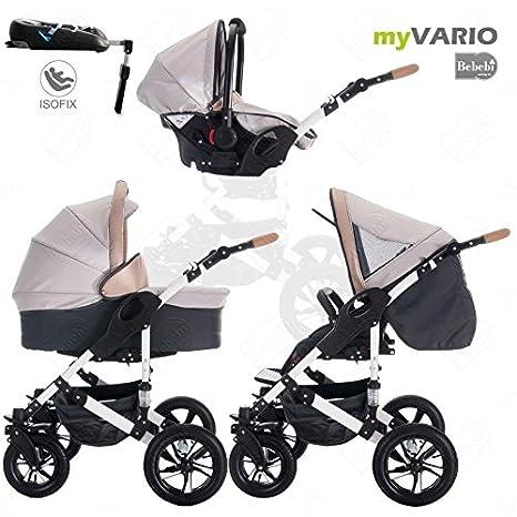 Bebebi | modelo myVARIO | 4 en 1 Cochecito de niño cochecitos de bebé + ISOFIX | Ruedas de goma dura - myHoney: Amazon.es: Bebé