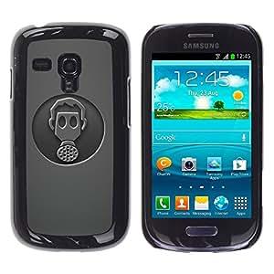 TopCaseStore / la caja del caucho duro de la cubierta de protección de la piel - Minimalist Gasmask - Samsung Galaxy S3 MINI NOT REGULAR! I8190 I8190N