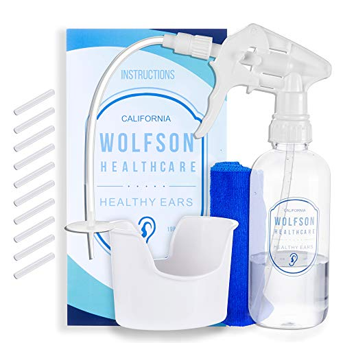 Drop Earrings Kit - Ear Wax Removal Tool - Earwax Safe Wash & Remover Irrigation System for Sensitive Ears for Adults & Kids by Wolfson Healthcare from California