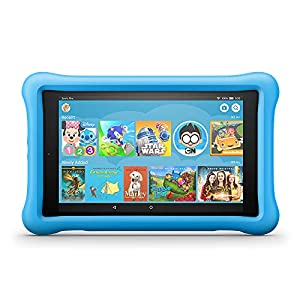 Fire HD 8 Kids Edition Tablet, 8″ HD Display, 32 GB, Blue Kid-Proof Case