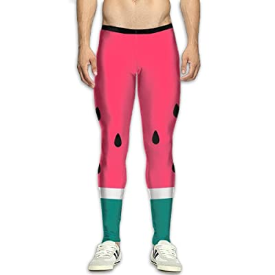 Olivefox Fit Clothes UV for Men Compression Sports and Fitness Tights Workout Pants Breathable Watermelon Cool Dry Baselayer Running Leggings Yoga 3D Apparel Print Pant