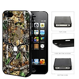Camo Oak Woods Black White Skull Mount #1 iphone 5 5s Hard Snap on Plastic Cell Phone Case Cover