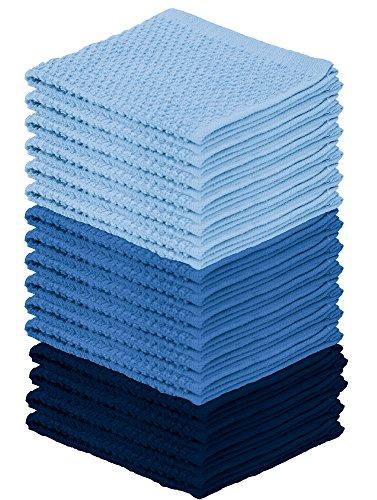 DecorRack 16 Pack Kitchen Dish Towels, 100% Cotton Wash Clot