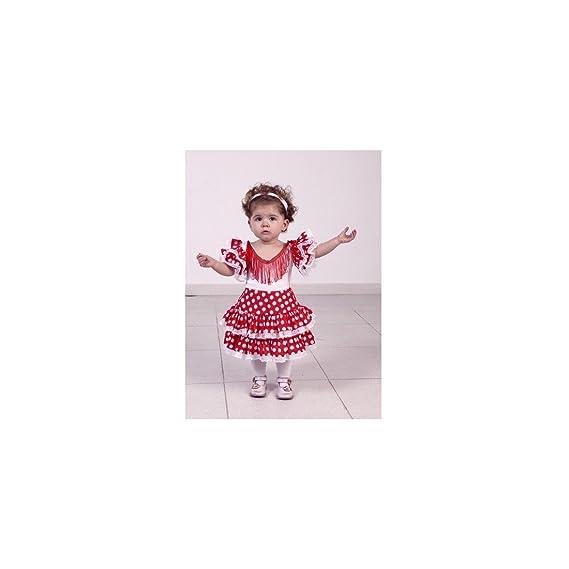 Disfraz flamenca en rojo talla 3-4 años: Amazon.es: Ropa y accesorios