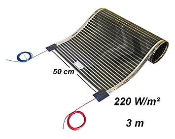 Calorique film сhauffant au sol 50cm 220W/m² longueur 2 m, Solution de chauffage efficace et d'économie d'énergie de la maison Solution de chauffage efficace et d'économie d'énergie de la maison