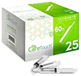 60ml Catheter Tip Syringe with Covers - 25 Syringes by Care Touch