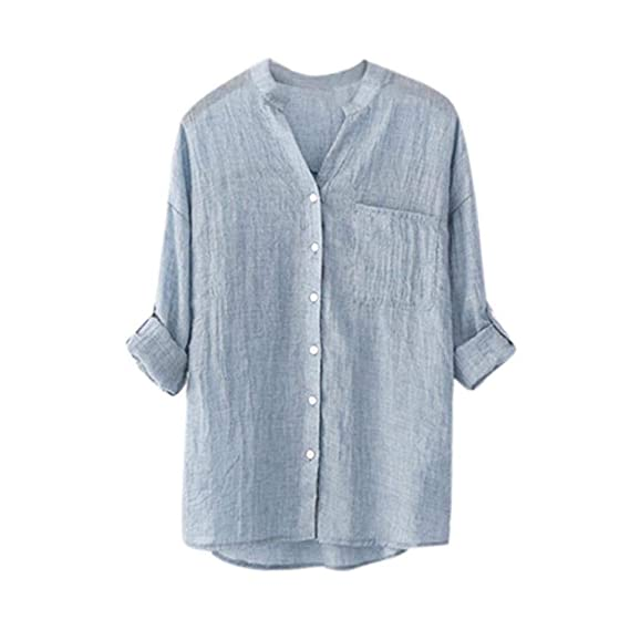 AiBarle - Camisa de Manga Larga para Mujer, Estilo Casual, con ...