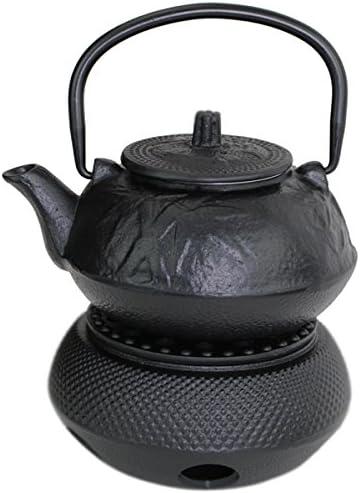 Koi Japanese Cast Iron Teapot 24 fl oz Black Fancy Carp Fish TeaPot Warmer