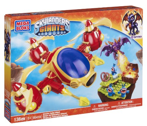 Mega Bloks Skylanders Arkeyan Copter Attack (Night Shift Skylanders)