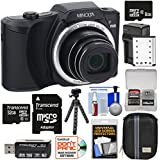 Minolta MN22Z 1080p 22x Zoom Wi-Fi Digital Camera (Black) 8GB & 32GB Cards + Battery & Charger + Case + Tripod Kit