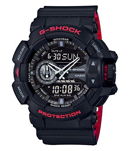 G-Shock GA-400HR Black/Red Layer Series - Black / One Size
