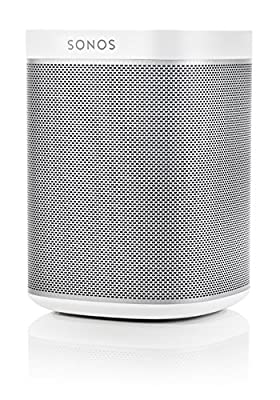 Sonos PLAY:1 Multi-Room Digital Music System Package (White) with BOOST Enterprise-Grade Wireless Adapter (White) by Sonos